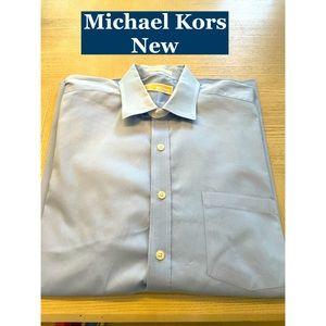 Michael Kors New Lt Blue Dress Shirt Sz 17, 32-33